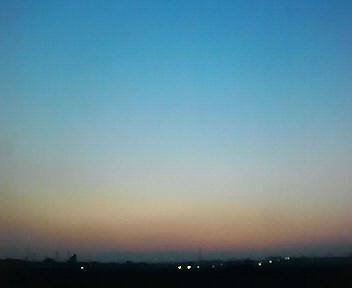 晴天の夕暮れ