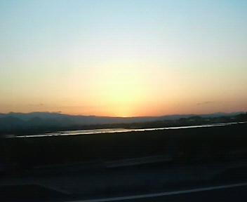 昨日の日没