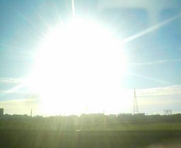 今朝の太陽、強烈な輝き